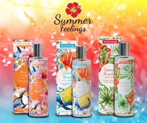 Acque profumate corpo Summer Feelings di BluOrange ideali per l'estate