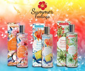 Acque profumate corpo Summer Feelings di BluOrange ideali per l'estate